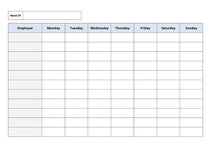 Daily Timetable Template
