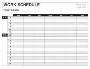 Employee Schedule Template Free Work Schedule Templates For Word