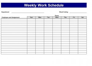 work plan calendar template free weekly schedule templates for