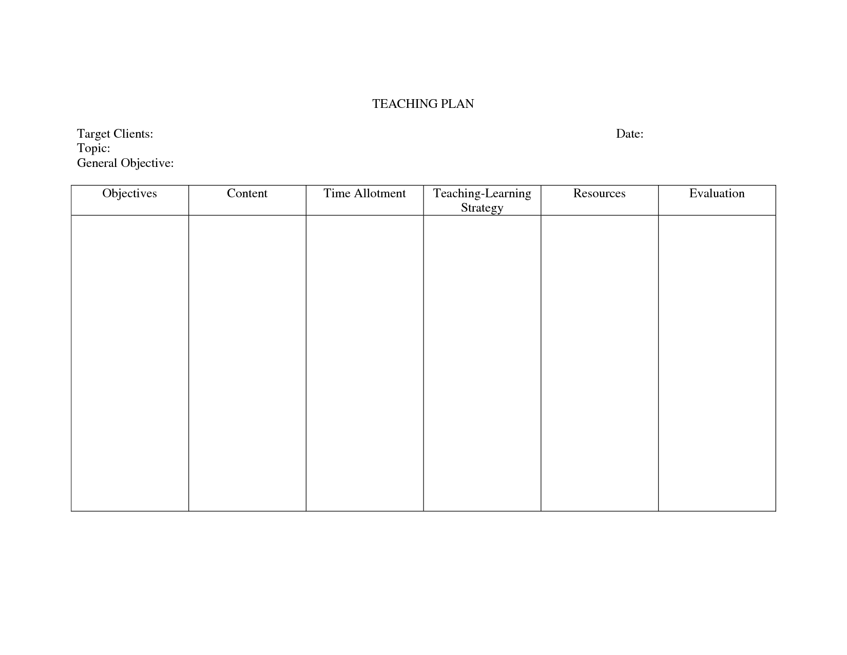 24 Images of Nursing Teaching Plan Template | leseriail.com