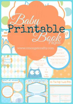 DIY Baby Book With Free Printables | Diy baby, Free printables and