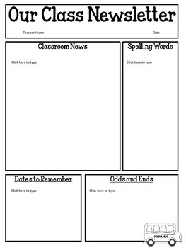 8+ elementary classroom newsletter template free | Newsletter Template