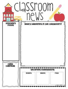 17 best School Newsletters images on Pinterest | Kindergarten