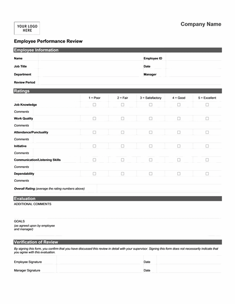 Employee Review Templates 10+ Free PDF Documents Download