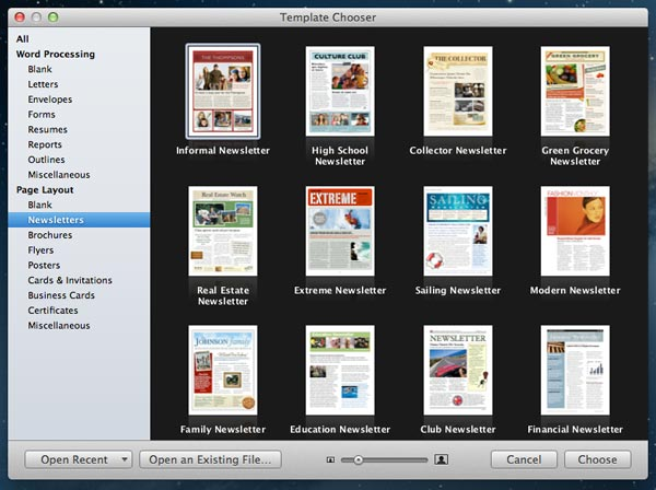 A Few Words On Mac Pages And Templates Tera Talks Newsletter