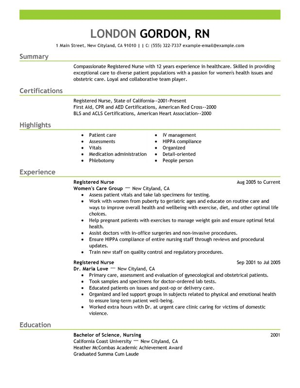 Unforgettable Registered Nurse Resume Examples to Stand Out