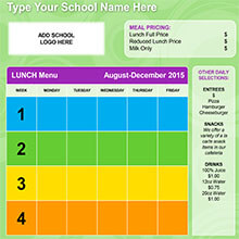 Free School Lunch Menu Templates | Best And Professional Templates