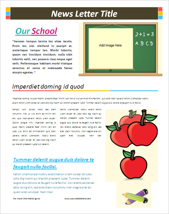 Here is a FREE Class Newsletter Template