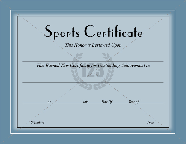 Award them with Best Sports Certificates Template for best