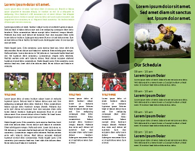 Sports Program Templates | PageProdigy – Print for $1