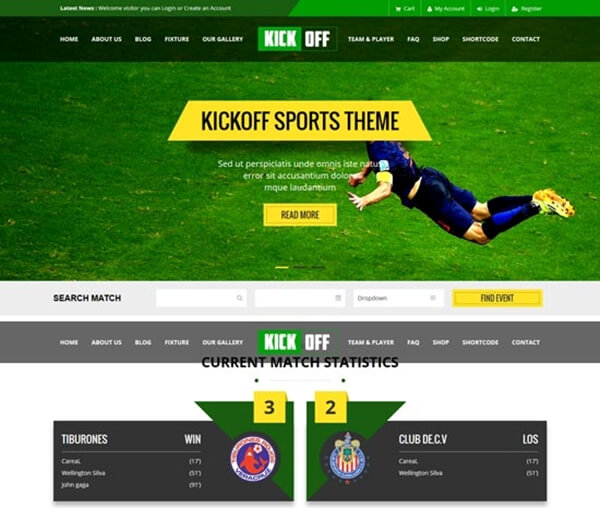 free sports template sport zone template free website templates in
