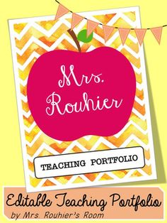 EDITABLE Teaching Portfolio Template