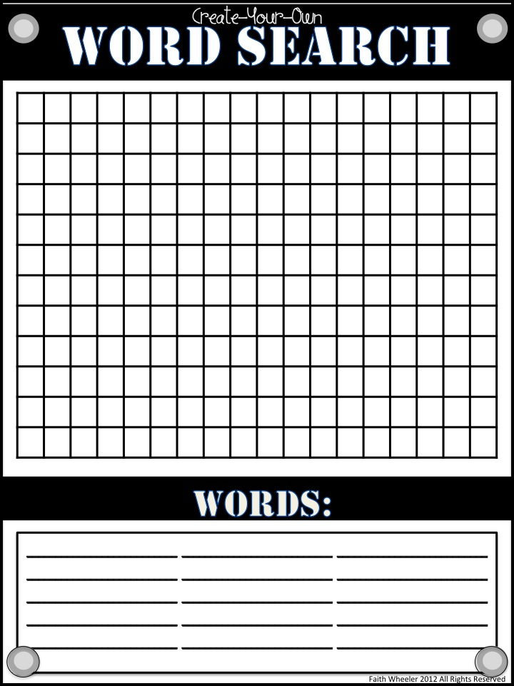 Blank Wordsearch Grids | Teaching Ideas | Pinterest | Word search