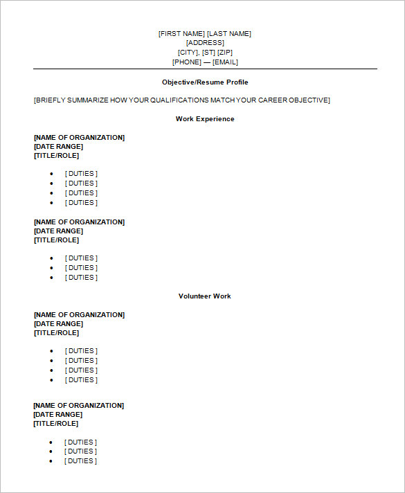 13+ High School Resume Templates PDF, DOC | Free & Premium Templates