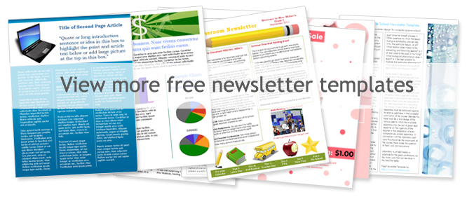 newsletter template word free word templates free ricdesign ideas