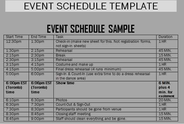 30 Images of Template Schedule Of Events