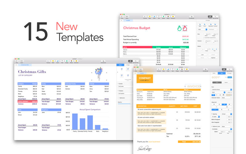 Templates for Mac Numbers