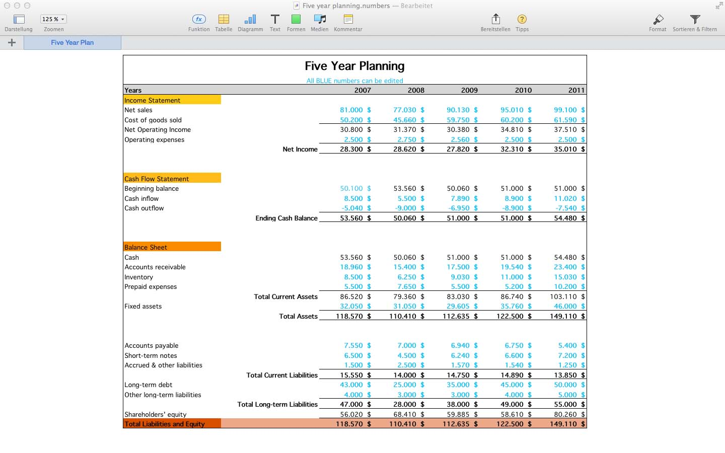 Templates for Numbers Pro for Mac