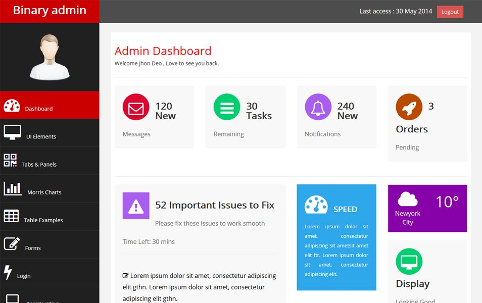 Free Bootstrap Admin Themes And Templates To Download