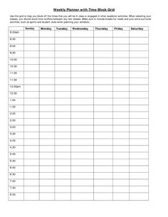 Time Management Planner Template