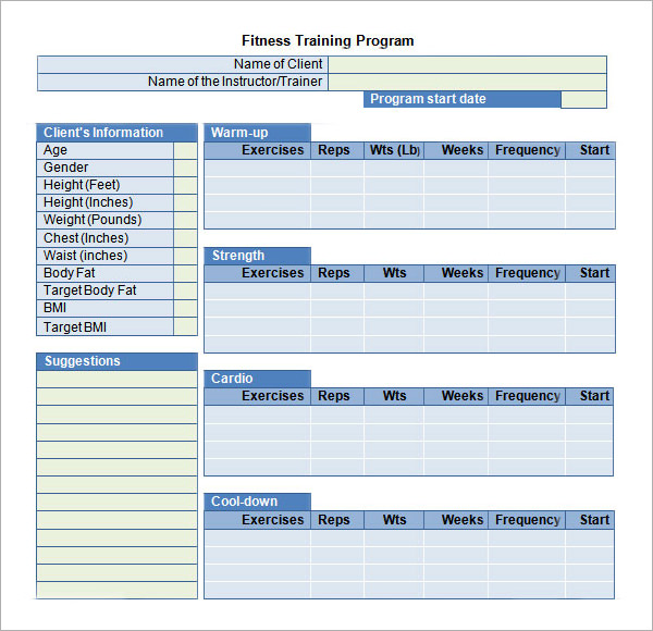 training schedule template free training templates tunnelvisie