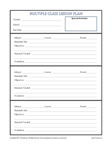 Daily Lesson Plan Template # 1 | .lessonplans4teachers.