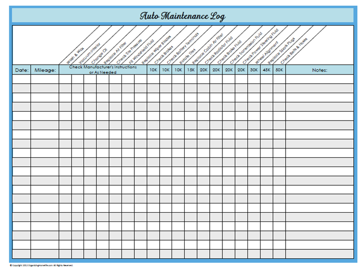 Maintenance Schedule Template 14+ Free Sample, Example Format