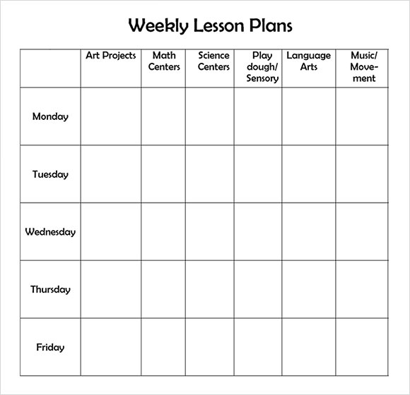 Lesson Plan Template sample