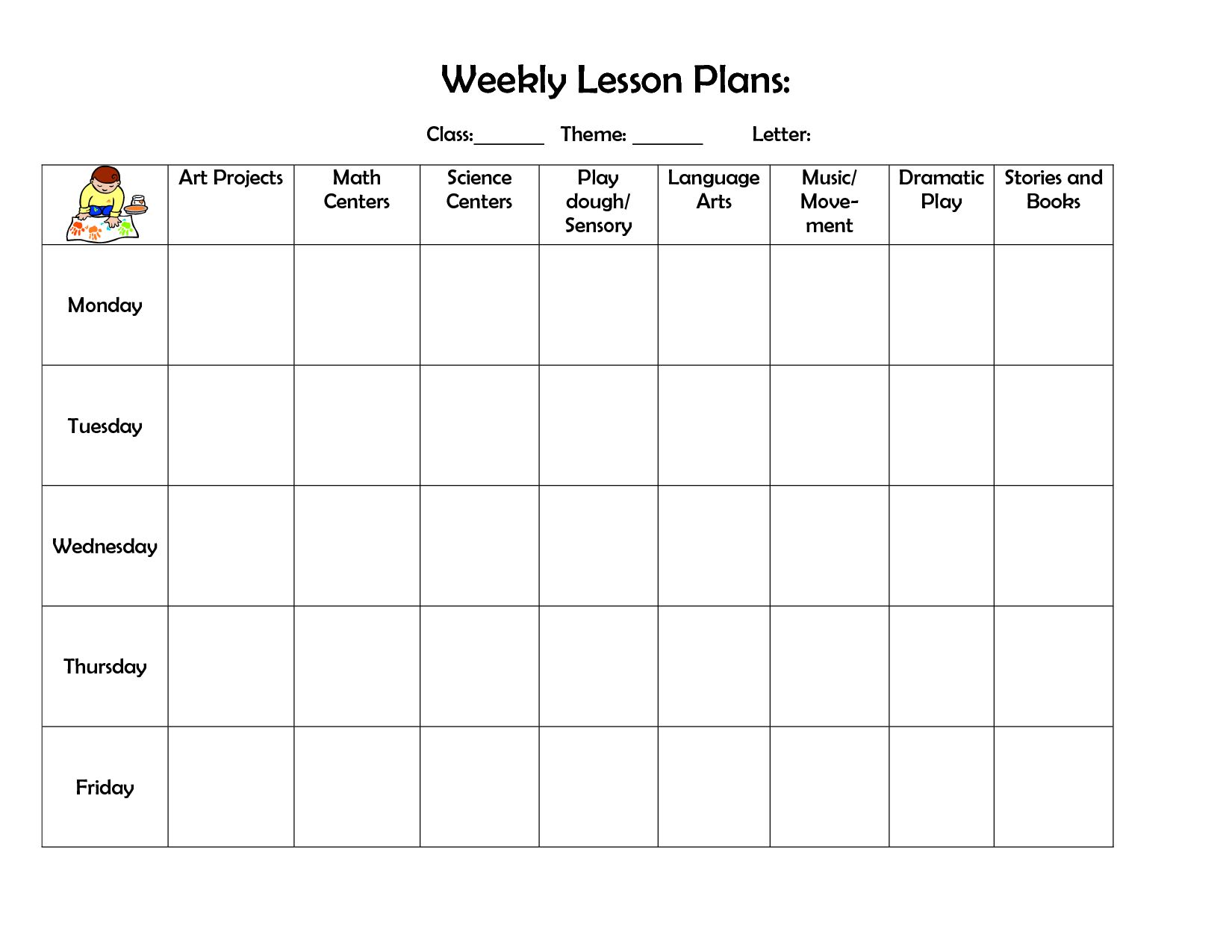 weekly lesson planning
