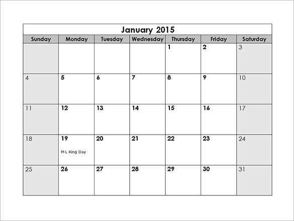 Monthly Schedule Template – 7+ Free Sample, Example Format