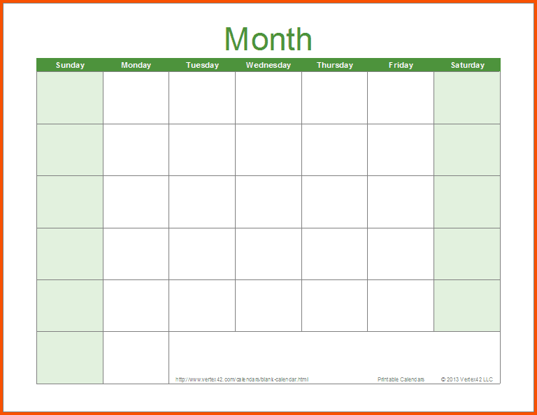 Free Weekly Schedule Templates