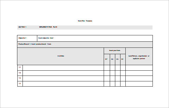 work plan template microsoft office work plan template 14 free