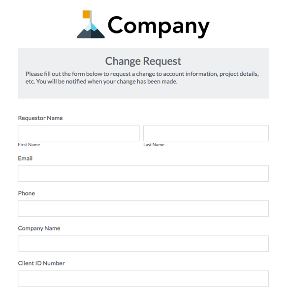 Change Request Form. Record Change Request Form Request Forms In