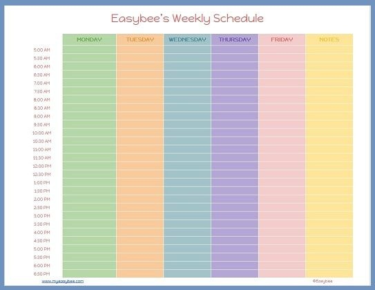 Work Schedule Template Google Docs | Business Plan Template