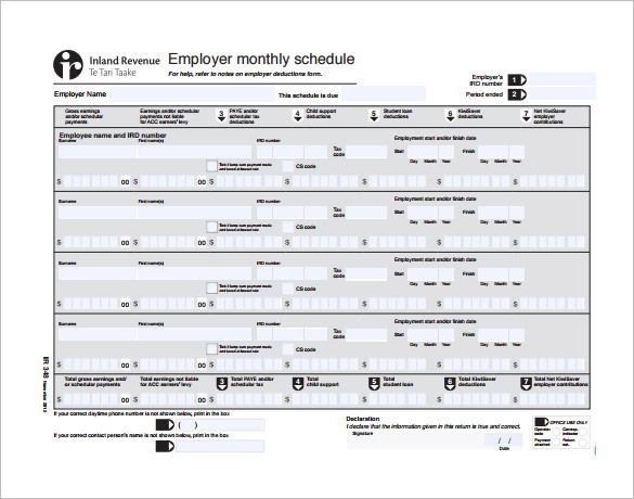 Monthly Work Schedule Template 25+ Free Word
