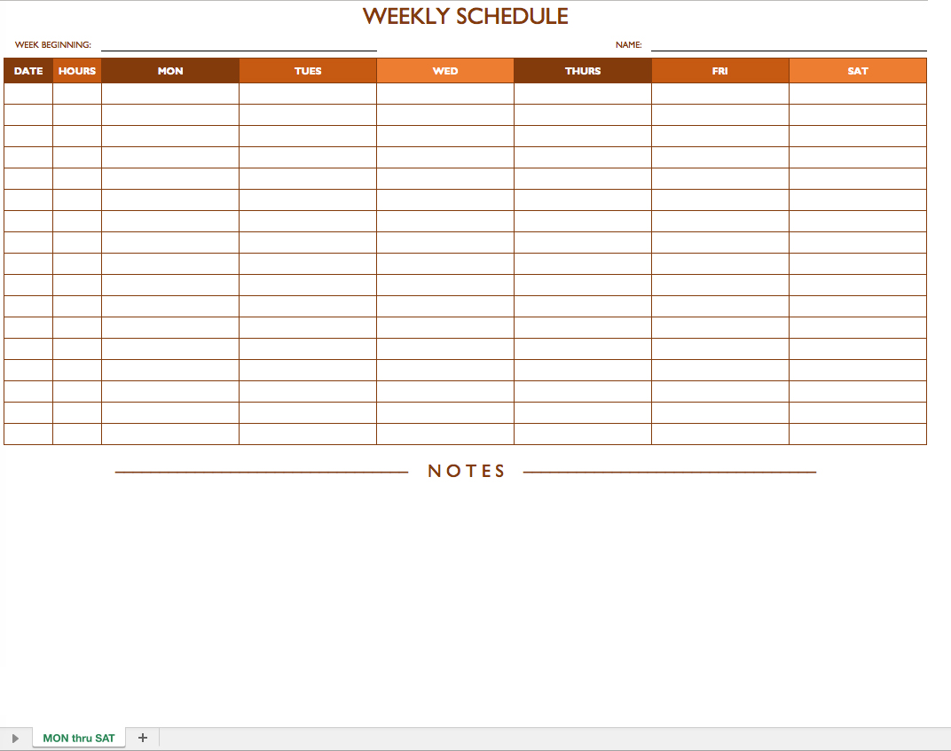 microsoft office work schedule template weekly work schedule