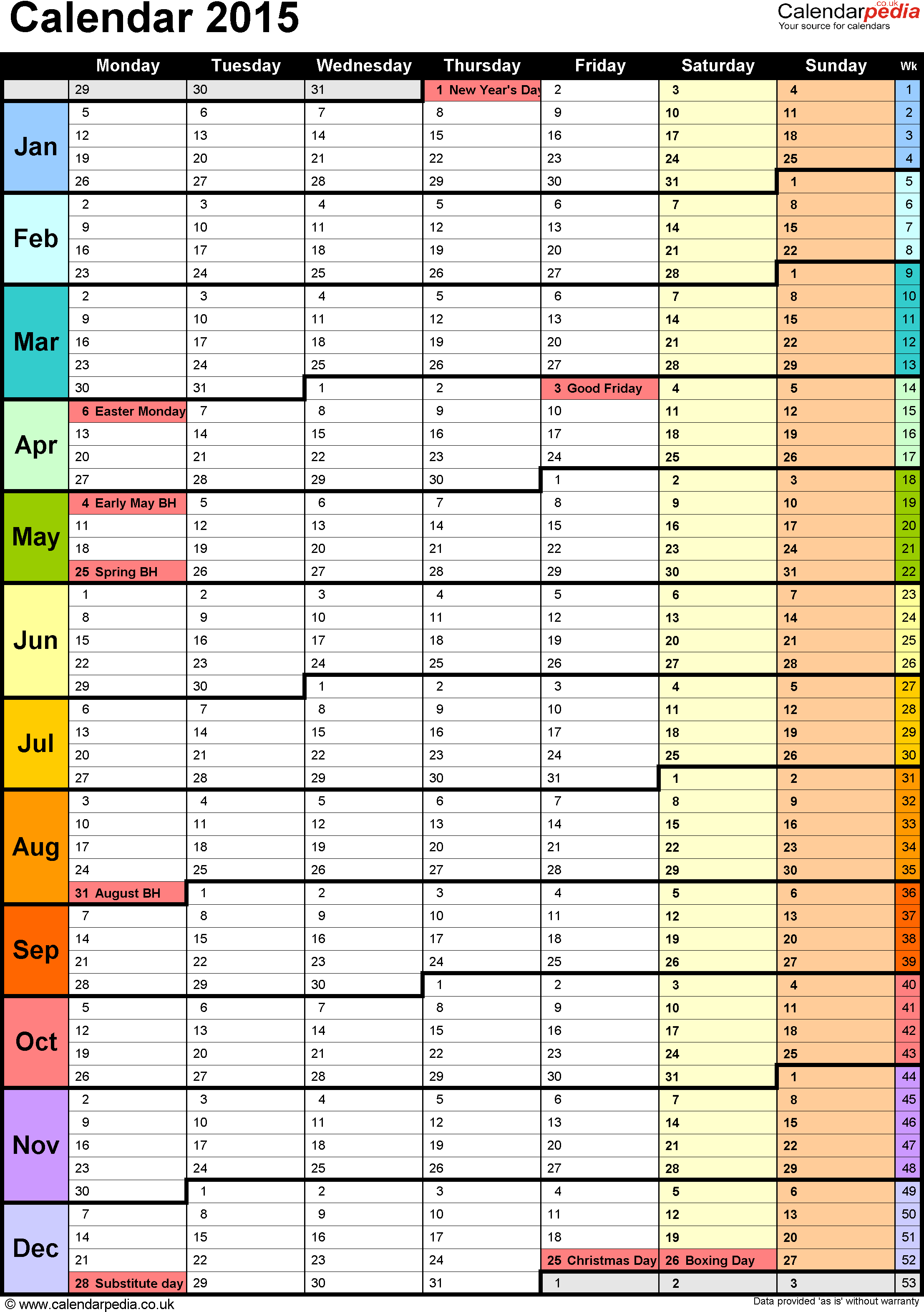 2018 Calendar Download 17 free printable Excel templates (.xlsx)